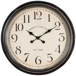 Cooper Classics Whitley Clock, Aged Black - 40034