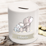 Personalised kids childrens money box in baby elephant design gift present idea