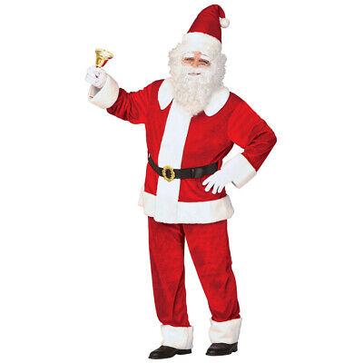 DELUXE WEIHNACHTSMANN KOSTÜM Nikolaus Santa Claus Weihnachten Party Anzug # - Deluxe Weihnachtsmann Anzug Kostüm