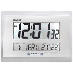 Casio Grey Resin Digital Wall Clock ID-17-8