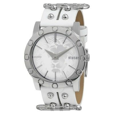 fc6f982a6fa Versus Versace Women s SF7010014 Miami Stainless Steel White Leather Watch