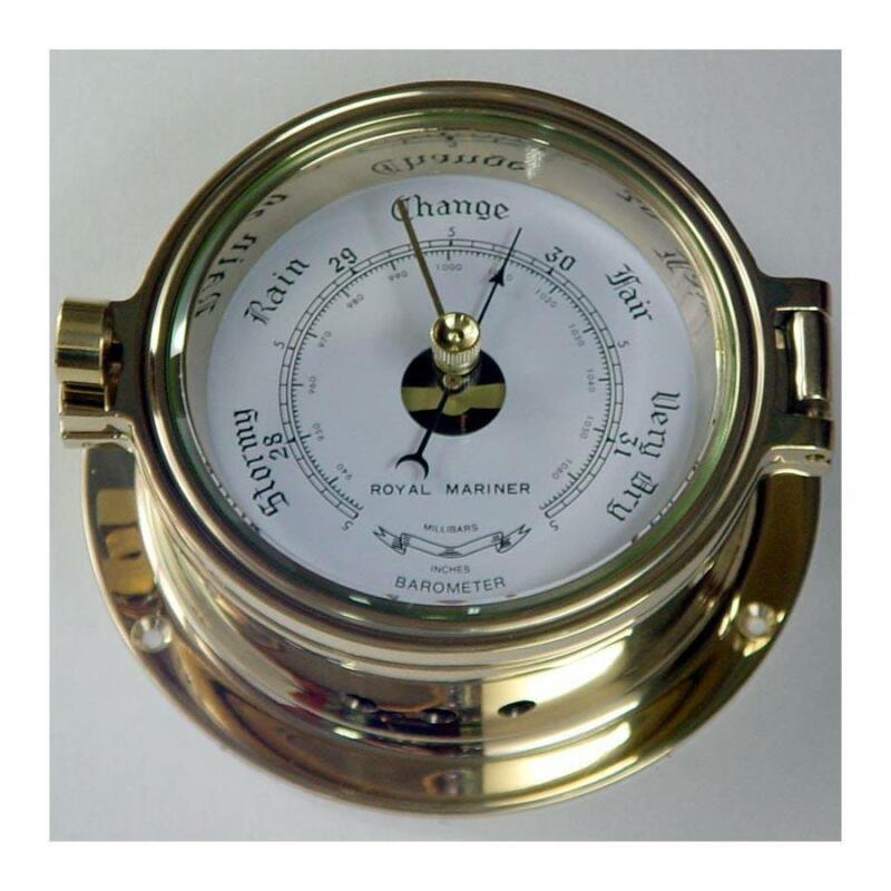Nautical Barometer, Polished Brass