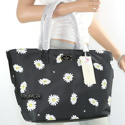 NWT Kate Spade Blake Ave Margareta Daisy Baby Diaper Bag Tote WKRU4345 Black New