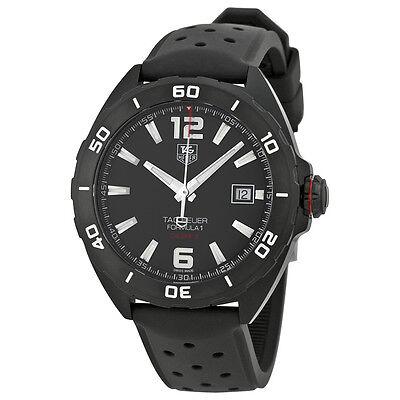 Tag Heuer Formula 1 Automatic Black Dial Black Rubber Mens Watch WAZ2115FT8023