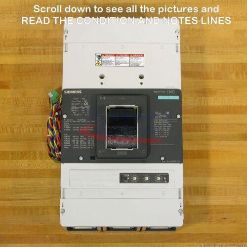 Siemens Lng Lnx3n120ma4ucx5 Breaker, 1200 Amp, 100 Kair, Aux Sw, Uvr, New!