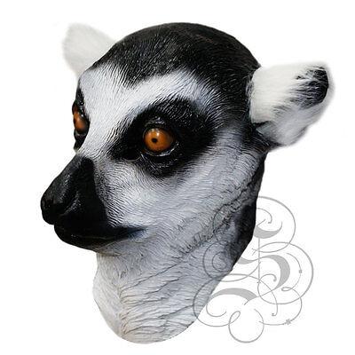 Latex Ganzer Kopf Tier Waldland Lemur Hochwertig Ausgefallene (Lemur Kostüme)