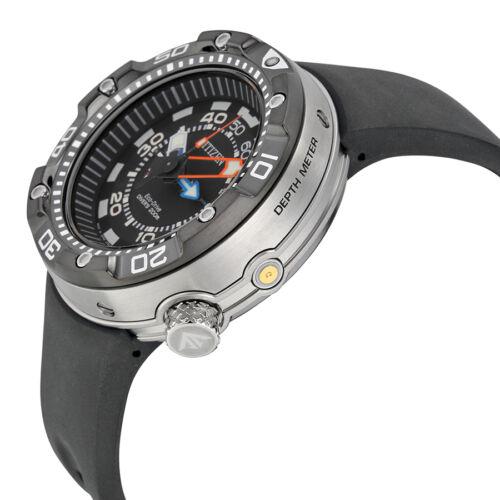 Citizen Promaster Aqualand Depth Meter Black Dial Mens Watch BN2029-01E