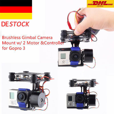 DJI Phantom Brushless Gimbal Camera Mount w/Motor & Controller for Gopro3 FPV PX