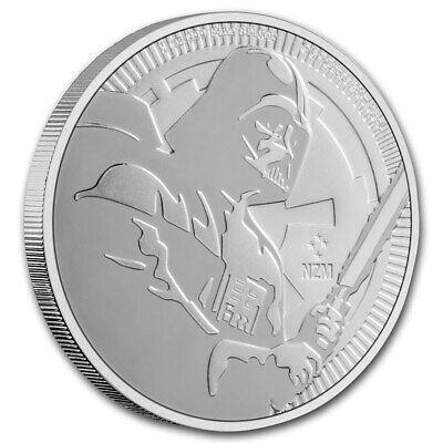 Niue Star Wars Darth Vader 2020 mit Lichtschwert Niue 2$ 1 oz 999 Silbermünze