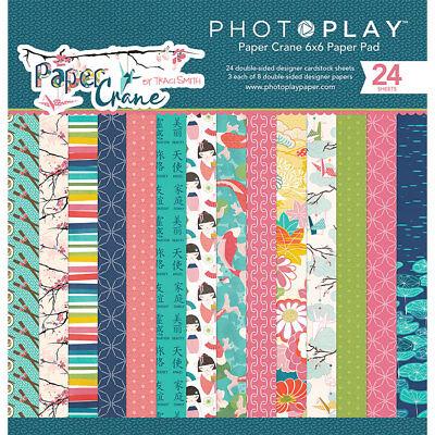 Photo Play Paper Crane 6x6 Paper Pad Japan Asian Cherry Blossom chopsticks