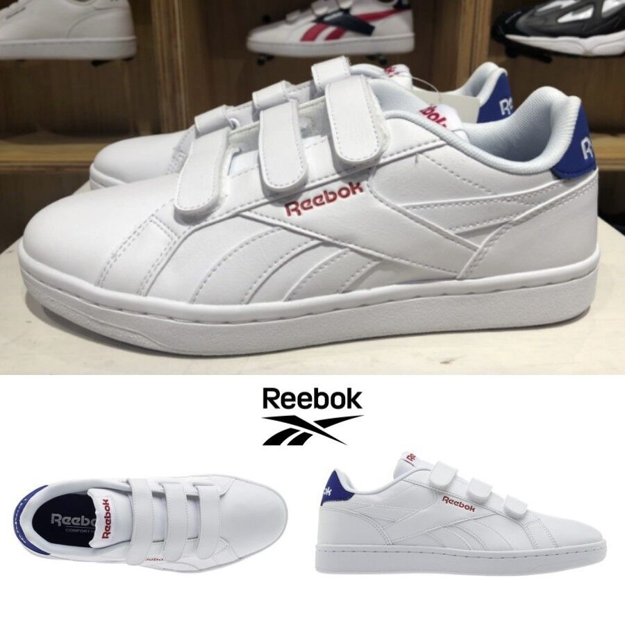 25dc06ff27 Reebok Classics Royal Complete Velcro Shoes Sneakers White Navy ...