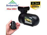 mini0801 HD 1080P Ambarella Dash Cam with GPS, Motion Detection, Viewing Software, 12 month warranty