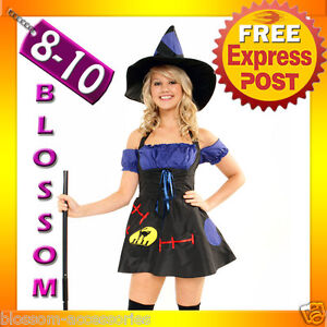 890-Ladies-Magic-Spell-Wicked-Witch-Halloween-Scary-Fancy-Dress-Costume-Outfit