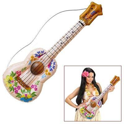 AUFBLASBARE UKULELE # Gitarre Hawaii Karibik Südsee Hula Hippie Kostüm Deko - Gitarre Kostüm