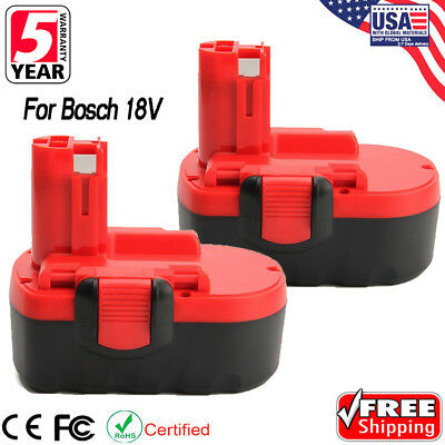 Extended Battery Bat - 2 x 18V Extended Drill Battery for Bosch BAT025 BAT026 BAT160 BAT180 BAT181 Tool