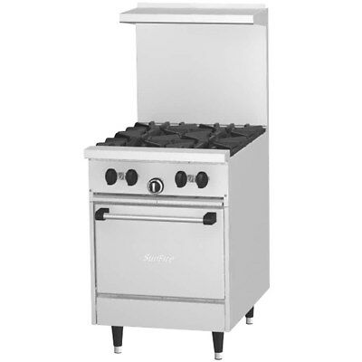 Garland Sunfire X24-4l X Series 24 Gas Restaurant Range With Space Saver Oven