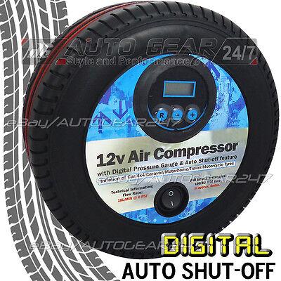 12v Coche Neumático Forma Mini Pantalla Digital Bomba de Aire Compresor Inflado