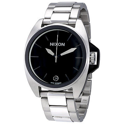 Nixon Anthem Black Dial Mens Stainless Steel Watch A396000