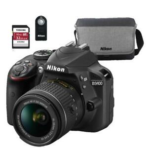 NEW--D3400 with 18-55mm VR Kit +BUNDLE (FULL NIKON WARRANTY)