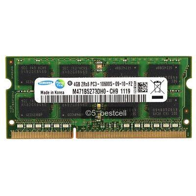 New Samsung  4GB PC3-10600 DDR3-1333MHz PC10600 204pin Laptop Memory Ram NON-ECC