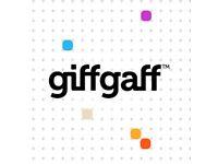 GiffGaff Preloaded Sim Card £5 Credit
