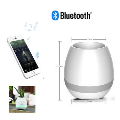 Altoparlante bluetooth vaso intelligente musica touch pianoforte luce senza fili