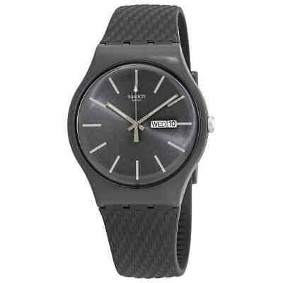 Swatch Bricagris Quartz Grey Dial Men's Watch SUOM708