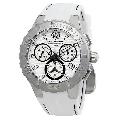 727d04e8d7 Technomarine Cruise Medusa Chronograph White Dial Mens Watch 115074