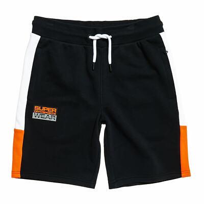Superdry Men's Street Sport Shorts: Black/Orange/White - MS300030A-02A