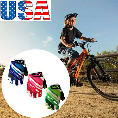 Kids Bicycle Gloves Outdoor 3 Colors Sports Bike Riding Gloves Suitable US Stock Kids Outdoor Motorcycle