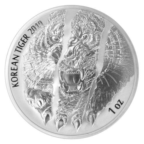 2019 South Korea 1 oz Silver Tiger Medal GEM BU SKU58822