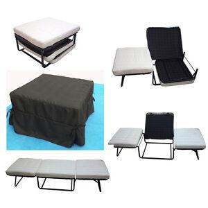 Puffo letto pouf letto cubo letto brandina poltrona letto pieghevole nero ebay - Ikea letto pieghevole ...