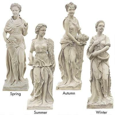 """The Four Goddesses of the Seasons (all 4 Life-size 61"""" tall statues)"""