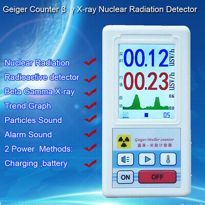 Radiation Nuclear Geiger Counter Gamma Beta X-ray Dosimet Meter Tester Kit Tool