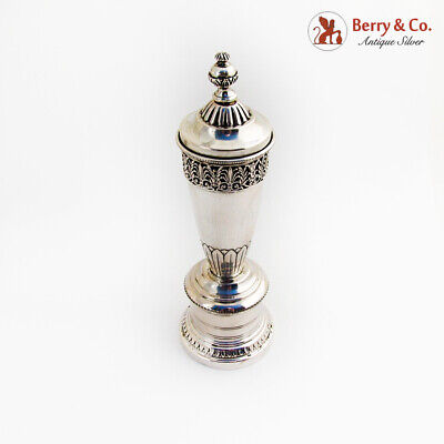 Ornate Large Pepper Mill Grinder Italian 800 Standard Silver 1950