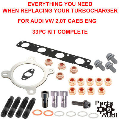 Turbocharger Installation KitAll you need For Audi 20T CAEB Engine