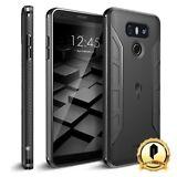 POETIC For LG G6 [Karbon Series] Shockproof Case With Anti-Slip Side Grip Black