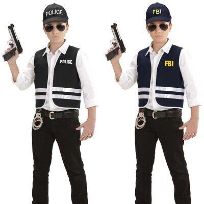 KINDER POLIZEI WESTE & BASECAP # Karneval Polizisten - Polizei Kostüm Männlich