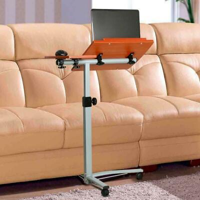 Adjustable Angle Height Rolling Computer Desk Cart Bed Hospital Laptop Table
