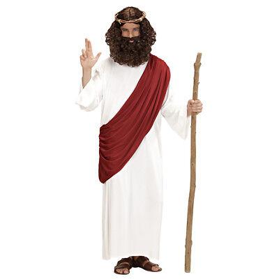 JESUS CHRISTUS KOSTÜM & KRONE Weihnachten Robe Dornenkrone Prophet Messias 4421