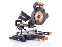 EVOLUTION R255SMS+ - 255mm Sliding Mitre Saw With TCT Multi-Material Cutting Blade
