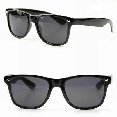Black Frame Wayfare Style Plastic Sunglasses 100% UV Lens Retro Vintage