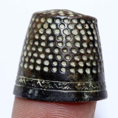 CIRCA 1400-1700 AD EUROPEAN DECORATED BRONZE THIMPLE