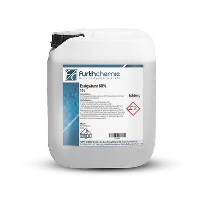 Essigsäure 60 % | Kanister 10 KG (Essigessenz, Reiniger, Entkalker)