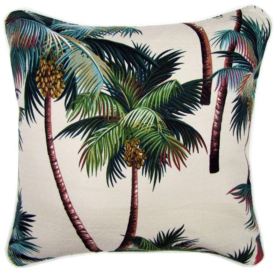 Palm Trees Tropical Hawaiian Beach 45x45 35x50cm Cream