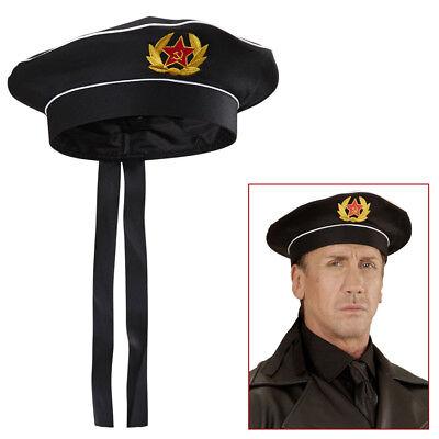 Russische Kostüme (RUSSISCHE OFFIZIER MÜTZE Karneval Marine Armee Kapitän Herren Kostüm Party 02428)