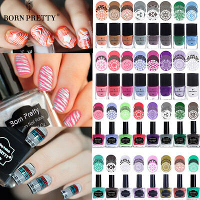 BORN PRETTY Nail Stamping Polish Nail Art Stamp Template Printing Varnish Decor - Polish Decorations