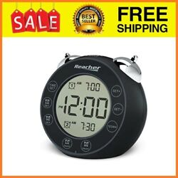 BellPro Twin Bell Loud Alarm Clock Battery Operated - Small Clock with Dual A...