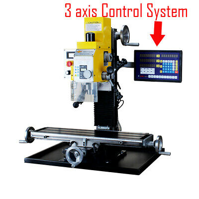 Wmd25v 750w Multi-function Drilling Milling Machine 3-axis Readout System 220v