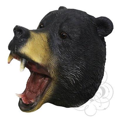 Latex Ganzer Kopf Tier American Black Bear Wald Hochwertig Kostüm Requisiten (Bear Kopf Kostüm)